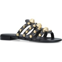 Balenciaga Leather Gwen Studded Sandals found on Bargain Bro UK from harrods.com