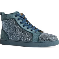 Christian Louboutin Louis Orlato Suede High-Top Sneakers found on Bargain Bro from harrods (us) for USD $2,276.20