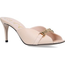 Gucci Leather Sylvie Chain Mule 75 found on Bargain Bro UK from harrods.com