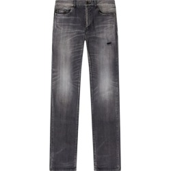 Saint Laurent Distressed Straight Jeans found on Bargain Bro UK from harrods.com