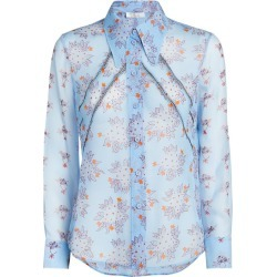 Chloé Silk Sheer Floral Blouse found on Bargain Bro UK from harrods.com
