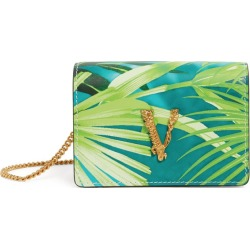 Versace Mini Leather Jungle Virtus Chain Wallet found on Bargain Bro UK from harrods.com