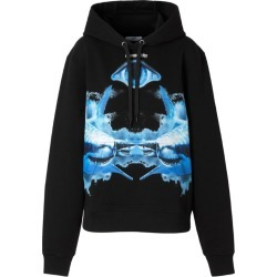 Burberry Shark Print Oversized Hoodie found on Bargain Bro from Harrods Asia-Pacific for USD $710.41