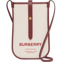 Burberry Canvas Horseferry Print Cross-Body Phone Case found on Bargain Bro UK from harrods.com
