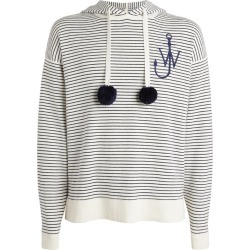 JW Anderson Striped Pom-Pom Hoodie found on MODAPINS from harrods.com for USD $526.16