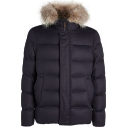 Herno Coyote-Fur Trimmed Padded Jacket found on MODAPINS from harrods.com for USD $1949.70