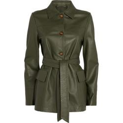 Max Mara Leather Jacket found on Bargain Bro UK from harrods.com