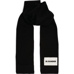 Jil Sander Cashmere Logo Patch Scarf found on Bargain Bro UK from harrods.com