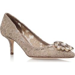 Dolce & Gabbana Lace Rosa Embellished Pumps 60 found on Bargain Bro UK from harrods.com