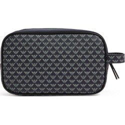Emporio Armani Logo Print Wash Bag found on Bargain Bro UK from harrods.com