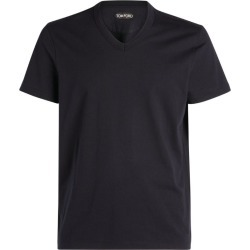 Tom Ford Cotton V-Neck T-Shirt found on Bargain Bro UK from harrods.com