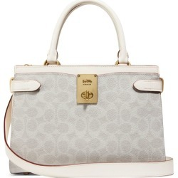 Coach Coated Canvas Leather Hutton Top-Handle Bag found on Bargain Bro from Harrods Asia-Pacific for USD $458.94