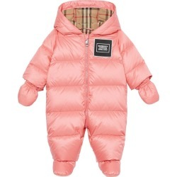 Burberry Kids Logo Patch Puffer All-In-One (1-18 Months) found on Bargain Bro UK from harrods.com