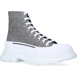 Alexander Mcqueen Check Tread Slick High-Top Sneakers found on Bargain Bro from Harrods Asia-Pacific for USD $567.09