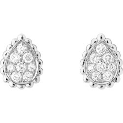 Boucheron White Gold and Diamond Serpent Bohème Earrings found on MODAPINS from harrods.com for USD $4277.78
