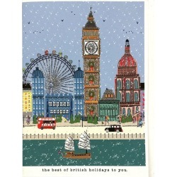 Verrier British Holidays Christmas Card found on Bargain Bro UK from harrods.com
