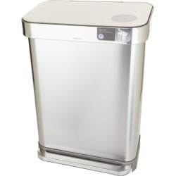 Simplehuman Rectangular Brushed Steel Pedal Bin (55L) found on Bargain Bro Philippines from Harrods Asia-Pacific for $195.22