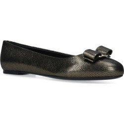Salvatore Ferragamo Leather Varina Flats found on Bargain Bro UK from harrods.com
