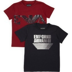 Emporio Armani Kids Pack of 2 Logo T-Shirts (4-14 Years) found on Bargain Bro UK from harrods.com