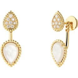 Boucheron Yellow Gold, Diamond and Mother-of-Pearl Serpent Bohème Earring found on MODAPINS from harrods.com for USD $3771.38
