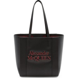 Alexander McQueen Small Leather Signature Shopper Bag found on Bargain Bro UK from harrods.com