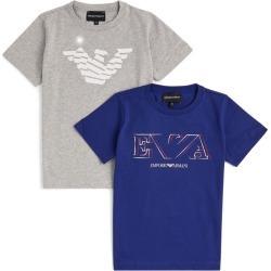 Emporio Armani Kids Set of 2 Eagle Logo T-Shirts (4-16 Years) found on Bargain Bro UK from harrods.com