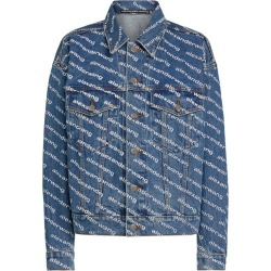 Alexander Wang Logo Print Game Denim Jacket found on MODAPINS from harrods (us) for USD $549.00