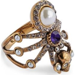 Alexander McQueen Spider Skull Ring found on Bargain Bro UK from harrods.com