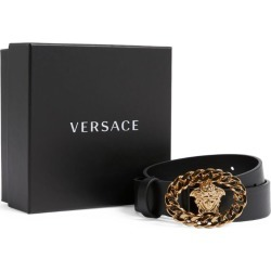 Young Versace Leather Medusa Buckle Belt found on Bargain Bro from Harrods Asia-Pacific for USD $158.36