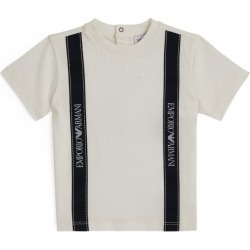 Emporio Armani Kids Taped Logo T-Shirt (6-36 Months) found on Bargain Bro UK from harrods.com