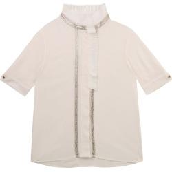 Chloé Kids Pleated Metallic T-Shirt (2-14 Years) found on Bargain Bro UK from harrods.com