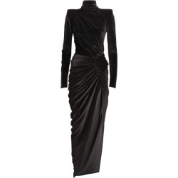 Alexandre Vauthier High-Neck Embellished Velvet Gown found on Bargain Bro UK from harrods.com