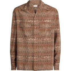 Lemaire Silk-Blend Multitonal Shirt found on MODAPINS from harrods.com for USD $859.92