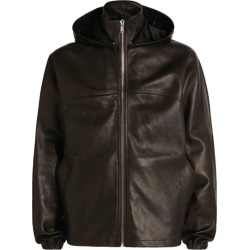 Rick Owens Hooded Leather Windbreaker found on Bargain Bro UK from harrods.com