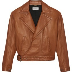 Saint Laurent Cropped Leather Jacket found on GamingScroll.com from Harrods Asia-Pacific for $5075.94
