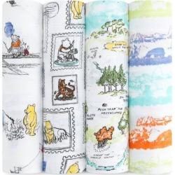 Aden + Anais Winnie The Pooh Swaddle Blanket (Set Of 4)