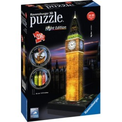 Ravensburger Big Ben Night Edition 3D Jigsaw Puzzle (216 pieces) found on Bargain Bro from harrods.com for £33