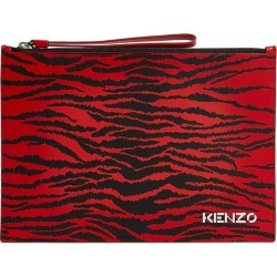 Kenzo Large Leather Tiger Print Clutch found on GamingScroll.com from Harrods Asia-Pacific for $227.13
