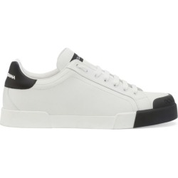 Dolce & Gabbana Leather Contrast-Toe Portofino Sneakers found on Bargain Bro UK from harrods.com