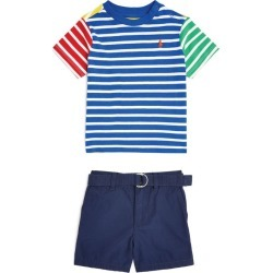 Ralph Lauren Kids Striped T-Shirt And Shorts Set (3-24 Months) found on GamingScroll.com from Harrods Asia-Pacific for $125.96