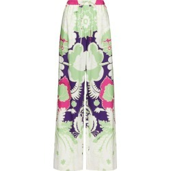 Valentino Printed Wide-Leg Trousers found on Bargain Bro from Harrods Asia-Pacific for USD $1,133.62