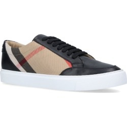 Burberry Leather House Check Panel Sneakers found on Bargain Bro UK from harrods.com