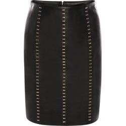 Alexander McQueen Leather Embellished Mini Skirt found on Bargain Bro UK from harrods.com