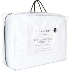 Harrods of London 200 Thread Count Cotton Mattress Protector Double (135cm x 190cm) found on Bargain Bro UK from harrods.com