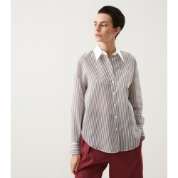 Brunello Cucinelli Striped Shirt found on Bargain Bro from harrods (us) for USD $1,060.20