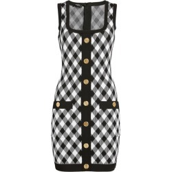 Balmain Check Mini Dress found on Bargain Bro UK from harrods.com