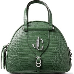Jimmy Choo Small Croc-Embossed Varenne Bowling Bag found on Bargain Bro UK from harrods.com