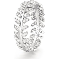 Boucheron White Gold and Diamond Plume de Paon Wedding Band found on MODAPINS from harrods.com for USD $6423.34