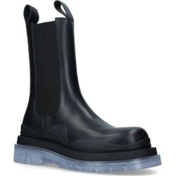 Bottega Veneta Leather BV Tire Boots found on Bargain Bro UK from harrods.com