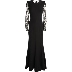Alexander McQueen Lace-Sleeve Gown found on Bargain Bro UK from harrods.com